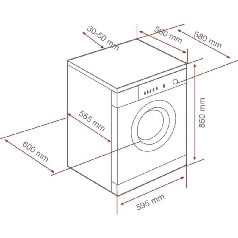 dimensioni lavatrici
